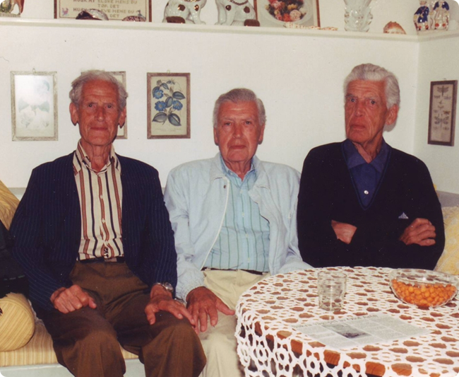 The Hofman-Bang brothers Lars, Tore and Erik in Torekov (1995). Picture by A.Malmaeus