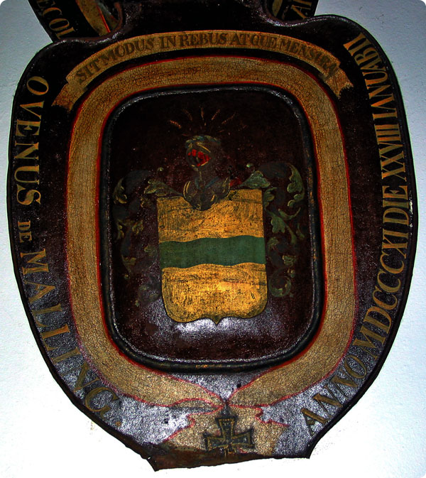 Ove Malling coat of arms (Fredriksborg Castle). Picture courtesy of Morten Falmer Nielsen (Malling)