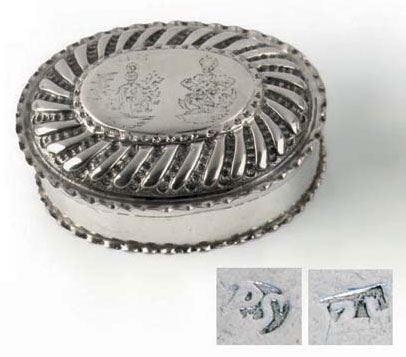The silver dressing box of K.E. de Hofma and E. Halchuss